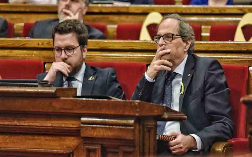 El Parlament acepta la retirada del escaño a Torra con la oposición de JxCat