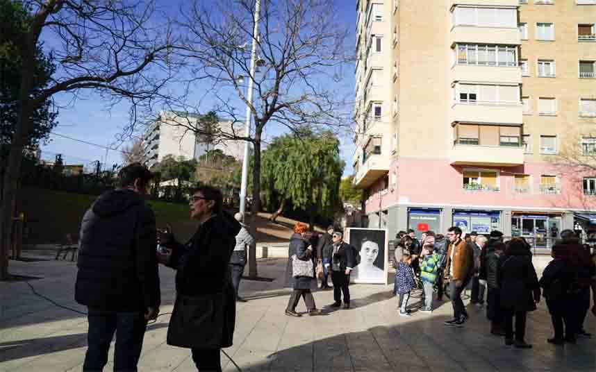 Nou Barris estrena las nuevas plazas de Humberto Rivas y de Can Basté