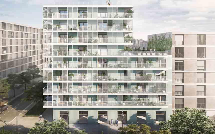 Edificio de 32 viviendas de cooperativa en el barrio de La Marina del Prat Vermell