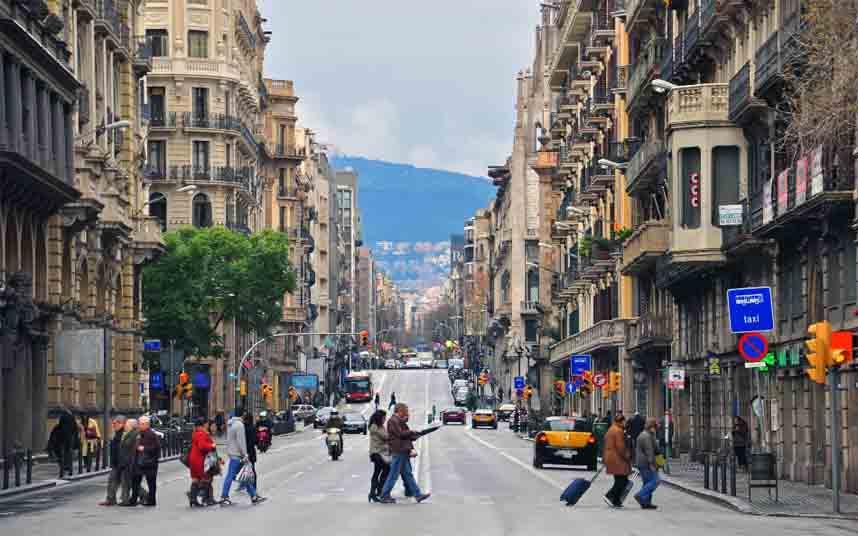 La modificación de la Vía Laietana tendrá más espacio para el peatón