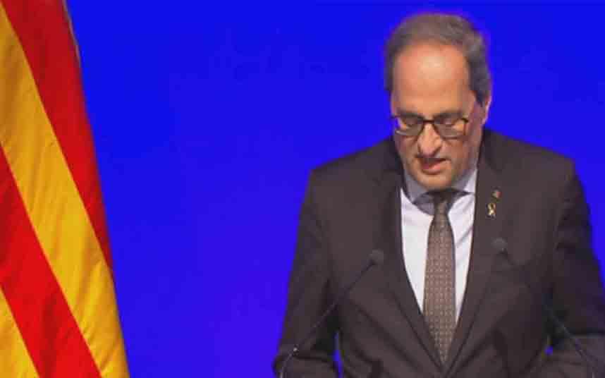 Quim Torra anuncia el cierre de Catalunya para evitar la propagación del coronavirus