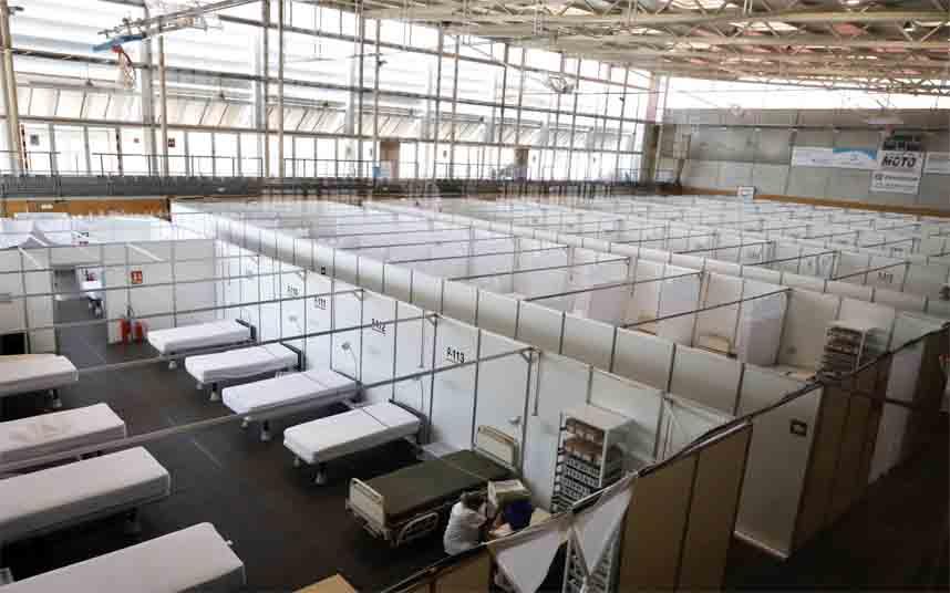 El Hospital del Mar y de Sant Pau, suman dos pabellones para atender a más pacientes
