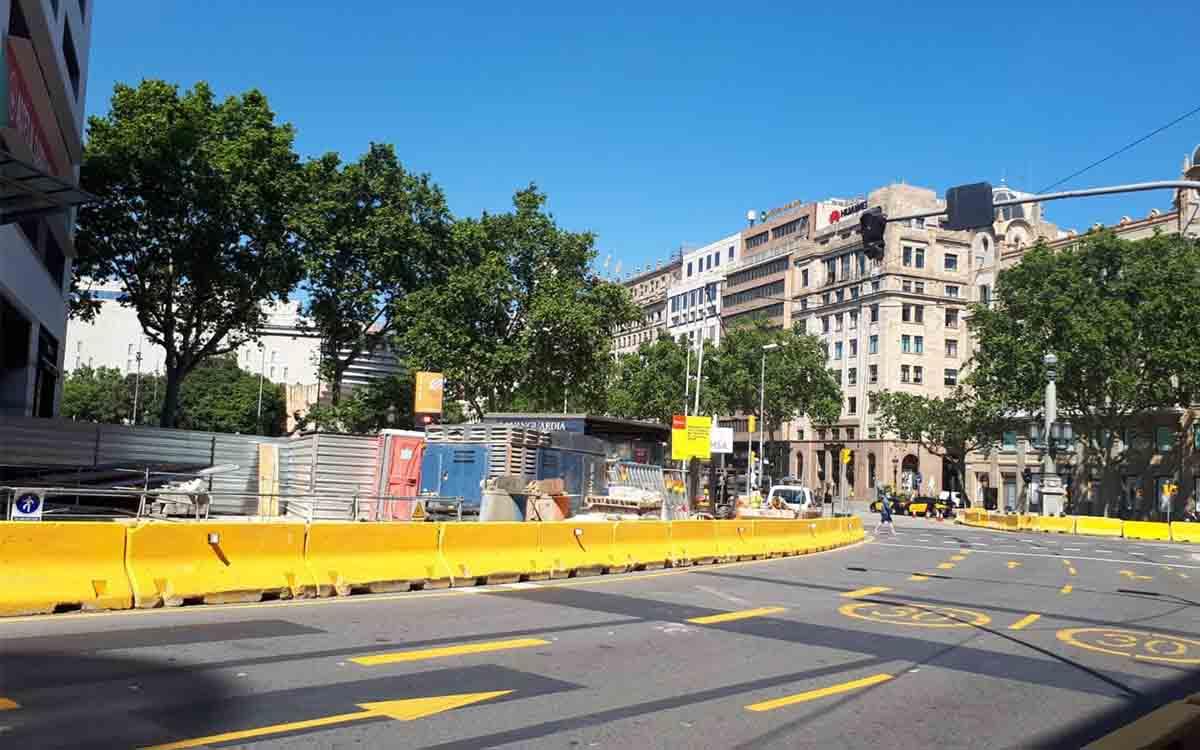 Afectaciones al tráfico en el entorno de la calle Pelai - Plaza de Catalunya