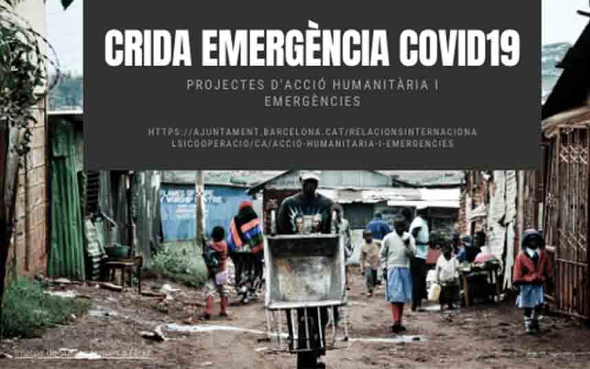 Barcelona destinará 400.000 euros para hacer frente a la Covid-19 en otros países