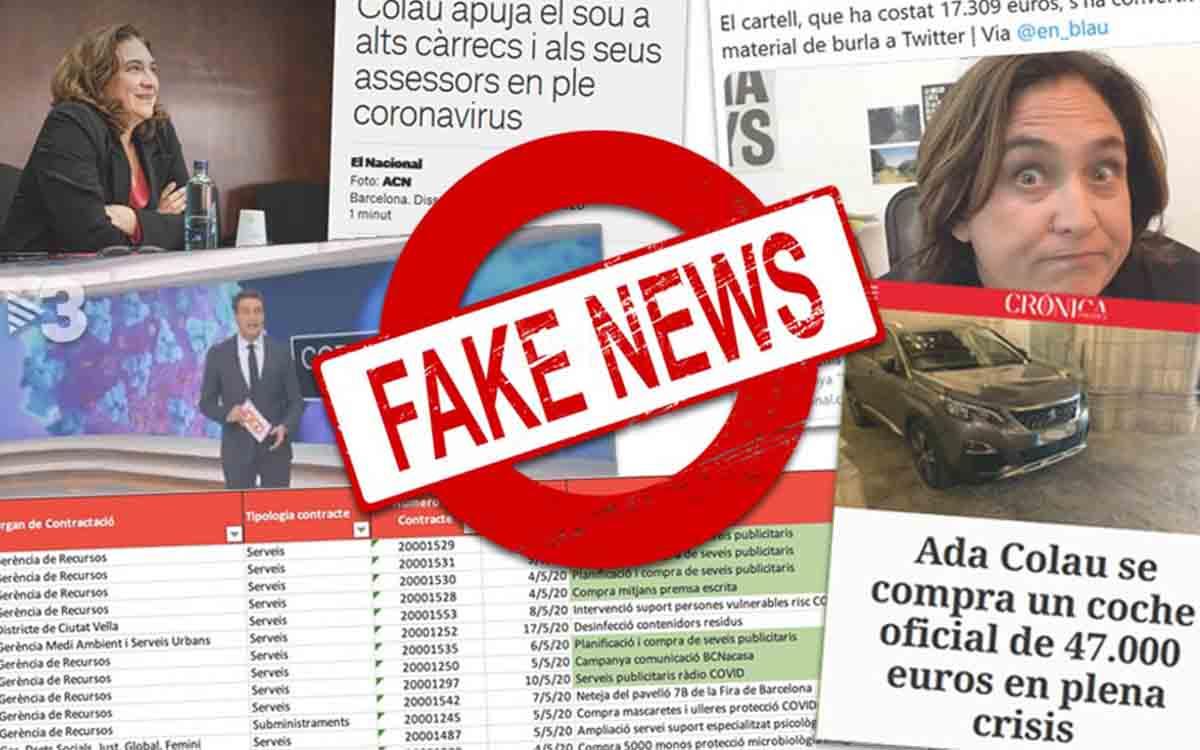 Las Fake News contra Colau: El Ayuntamiento paga 17000 euros por un cartel