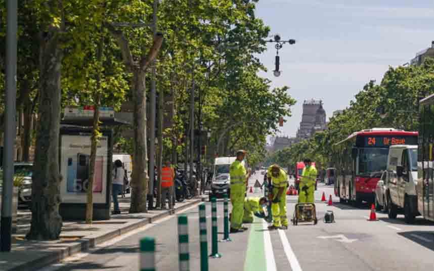 Primeras actuaciones en Barcelona para una movilidad más segura y sostenible