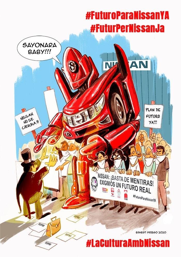 Élite Taxi se une a las protestas de los trabajadores de Nissan