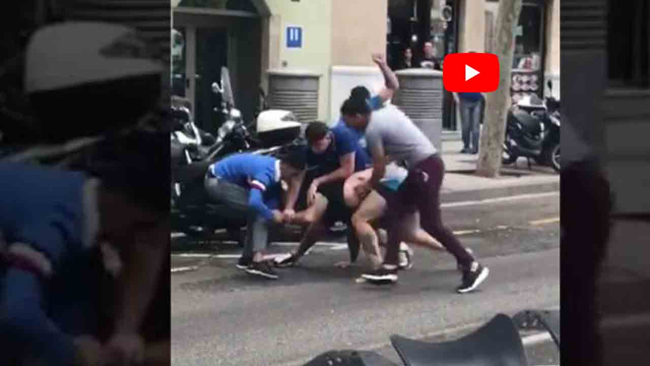 Brutal agresión en La Rambla de cinco individuos a un hombre para robarle el reloj