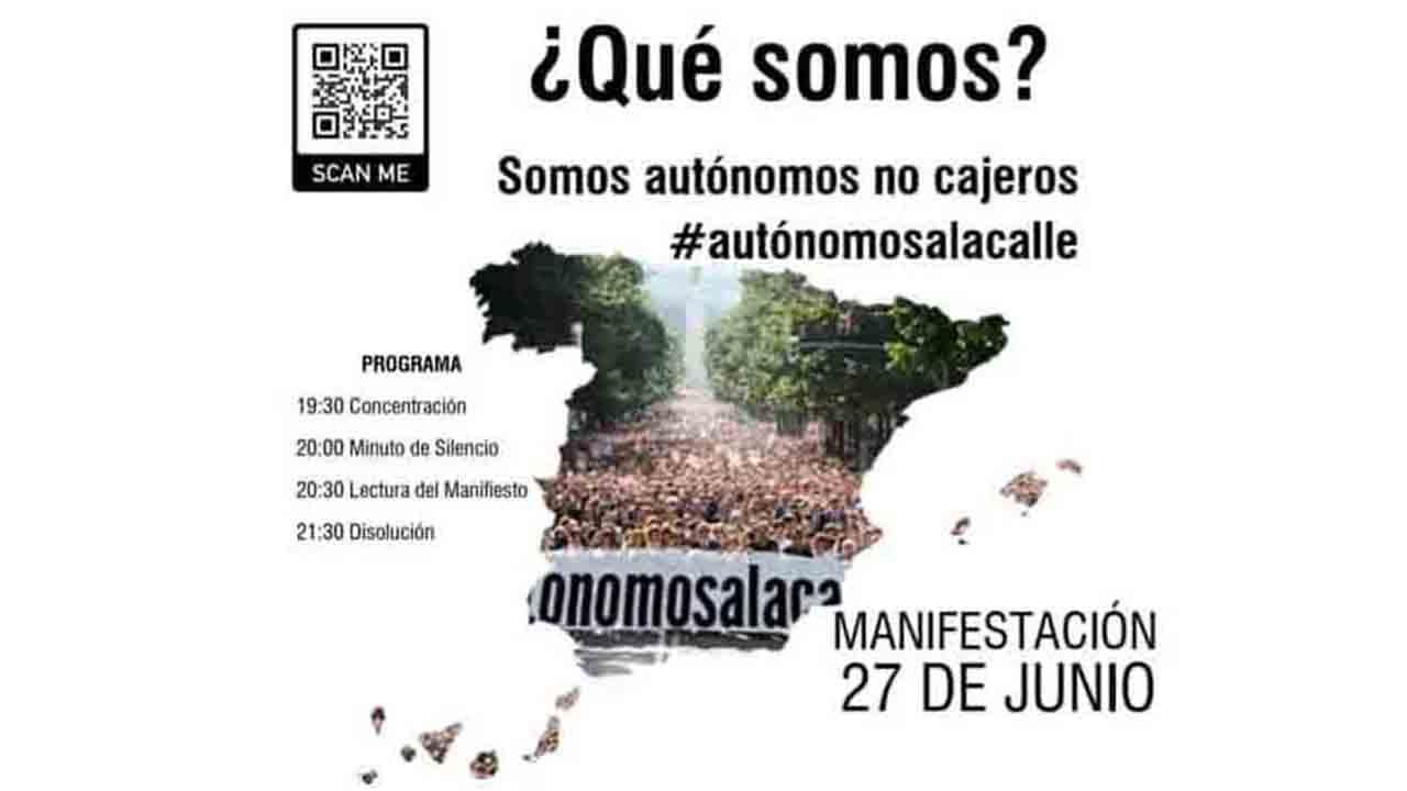 SOS autónomos Manifestación hoy en Barcelona a las 1930