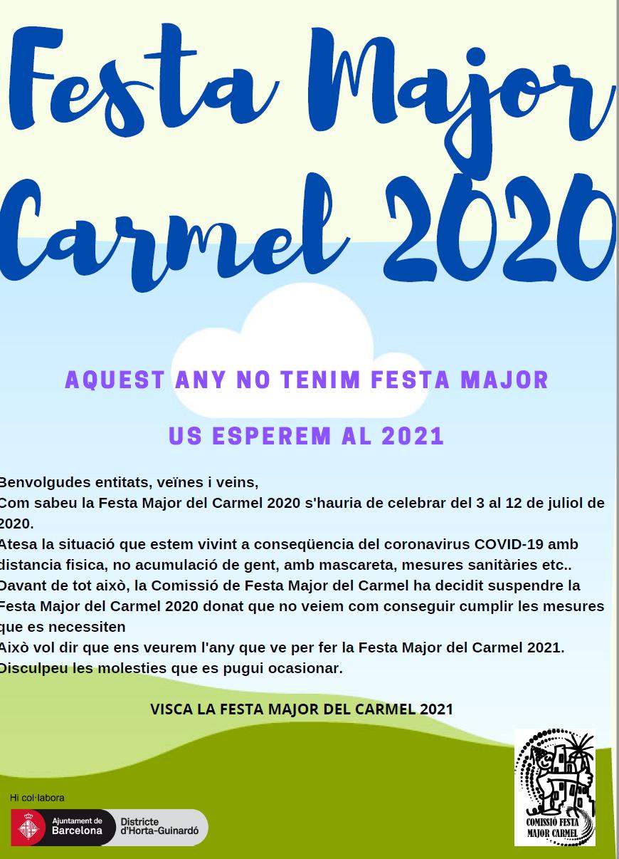 Se suspende la Fiesta Mayor del Carmel