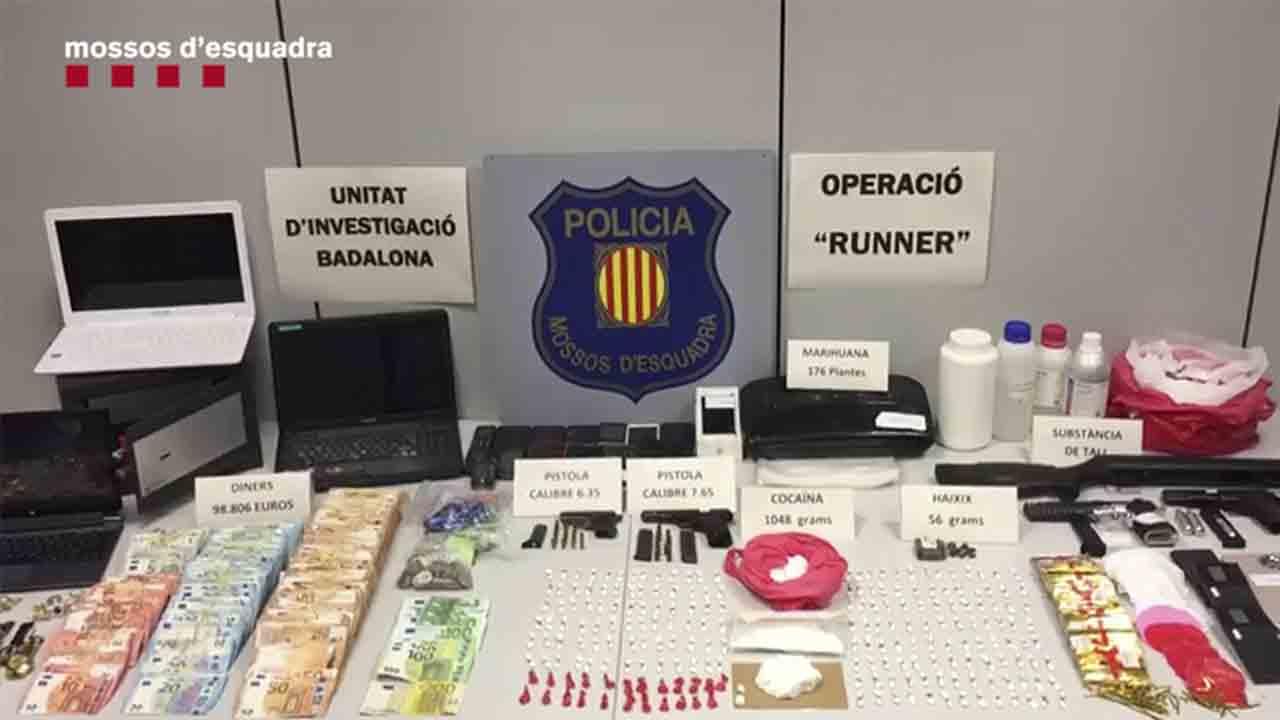 Tráfico de cocaína en Badalona: Los Mossos desmantelan una organización