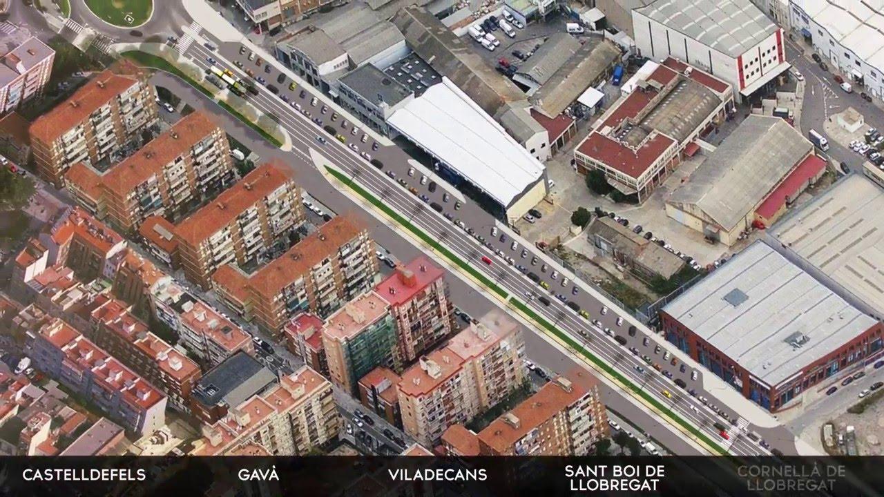 La C-245 que une Cornellà con Castelldefels tendrá un carril bus y una vía ciclista