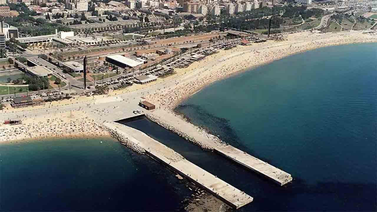 Se inician las obras de los espigones de Bogatell y de La Mar Bella en Barcelona