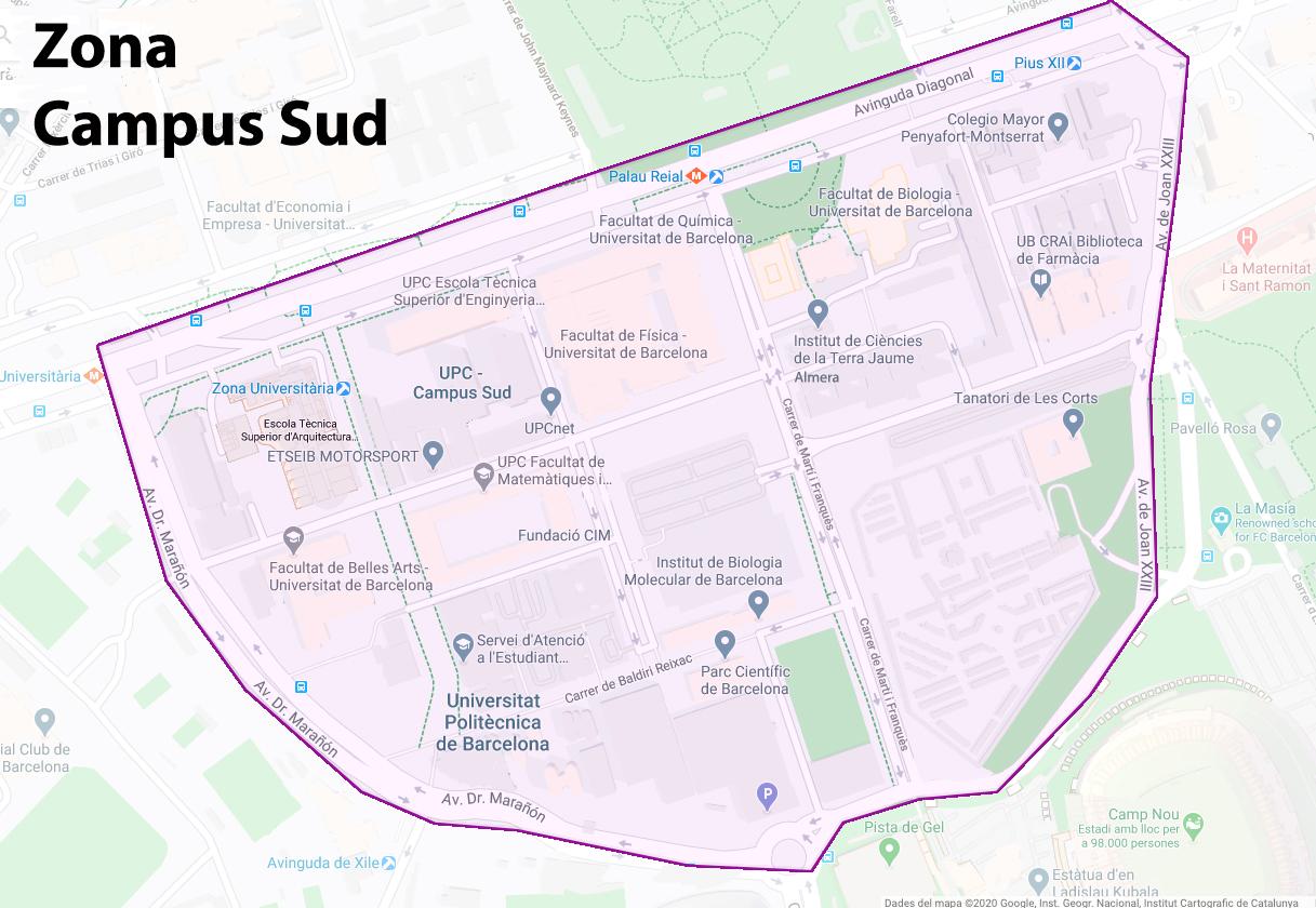 Se constituye la Mesa Campus Sud en el distrito Les Corts
