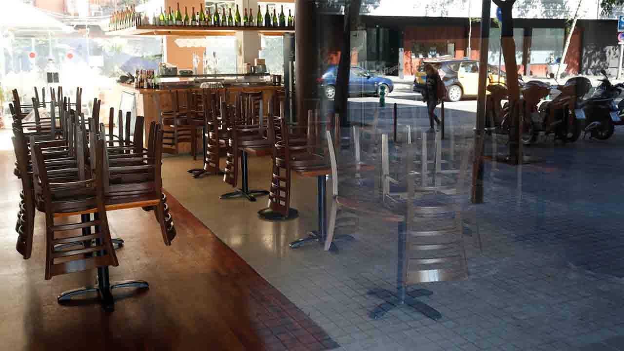 Bares y restaurantes cerrados y aforo limitado en el comercio