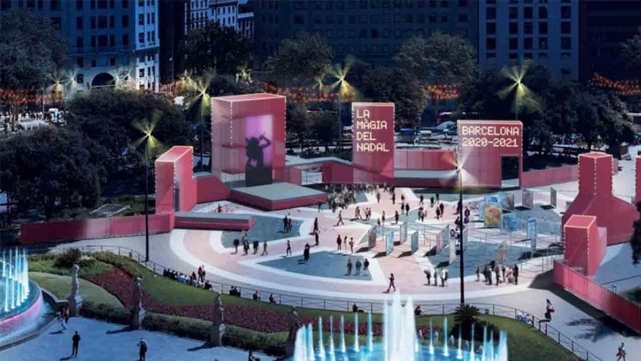 Acto oficial del Encendido de Luces de Navidad en Barcelona