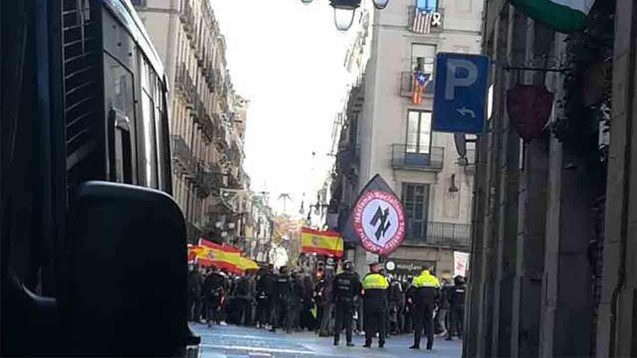 Exaltación de fascismo y nazismo en el acto de Vox en Barcelona