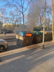 Detenido por incendiar una docena de contenedores el Día de Reyes