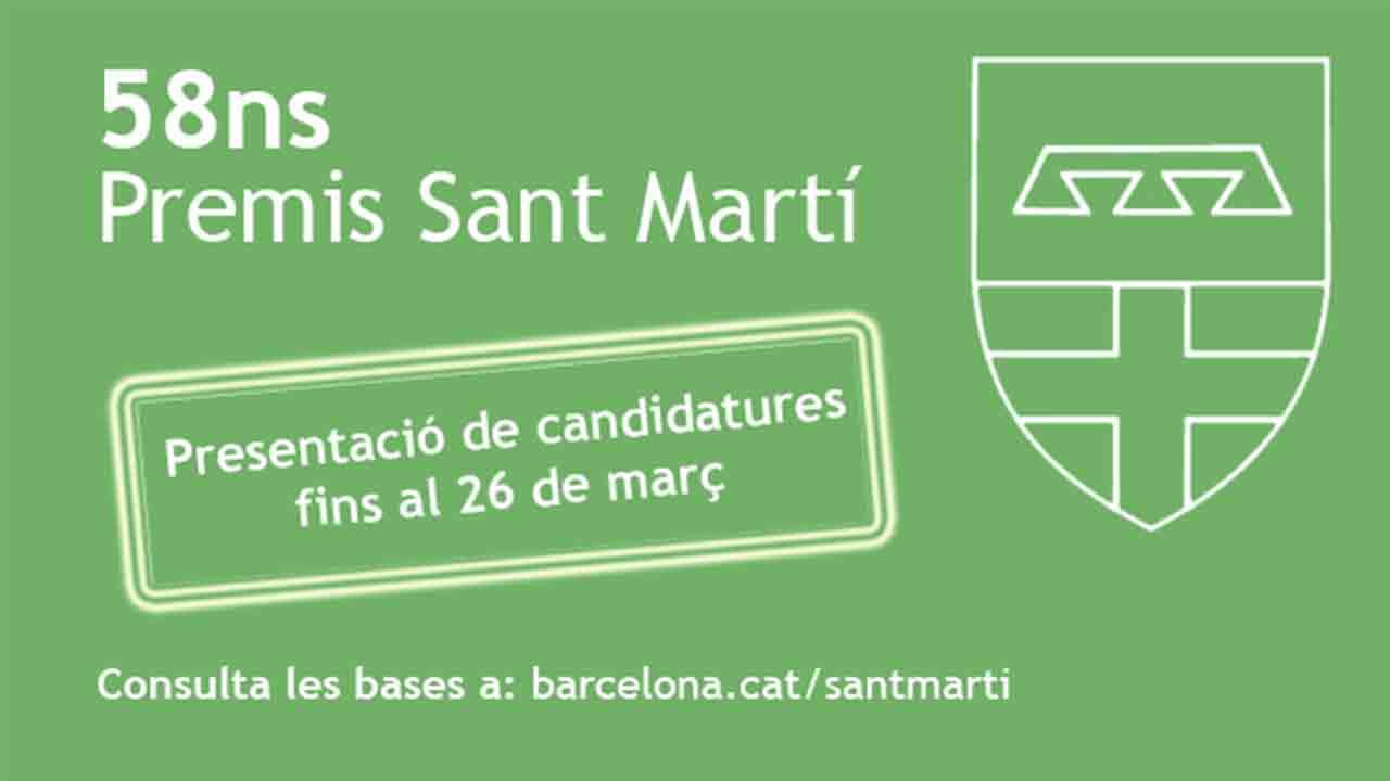 Convocatoria de los Premios Sant Martí 2020
