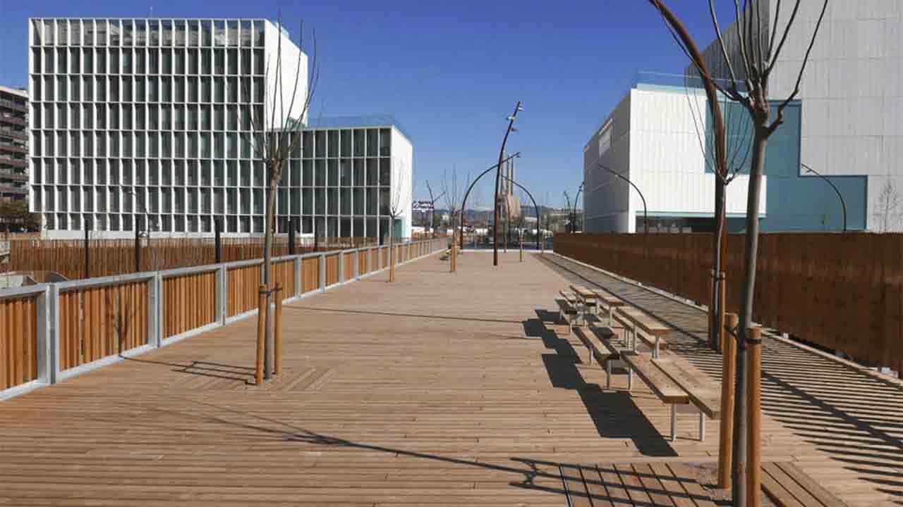 Inauguración del nuevo parque del Campus Diagonal-Besòs de la UPC
