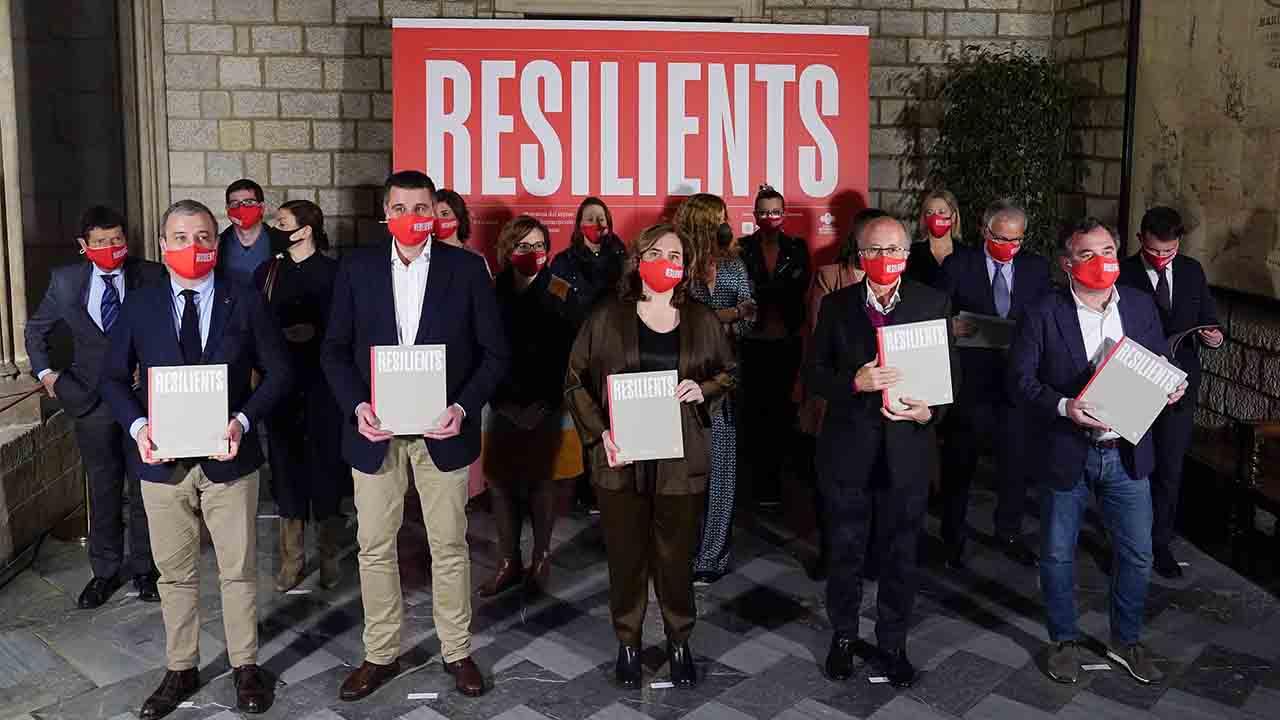 Presentación del libro 'resilients', sobre la restauración de Barcelona en tiempos de pandemia