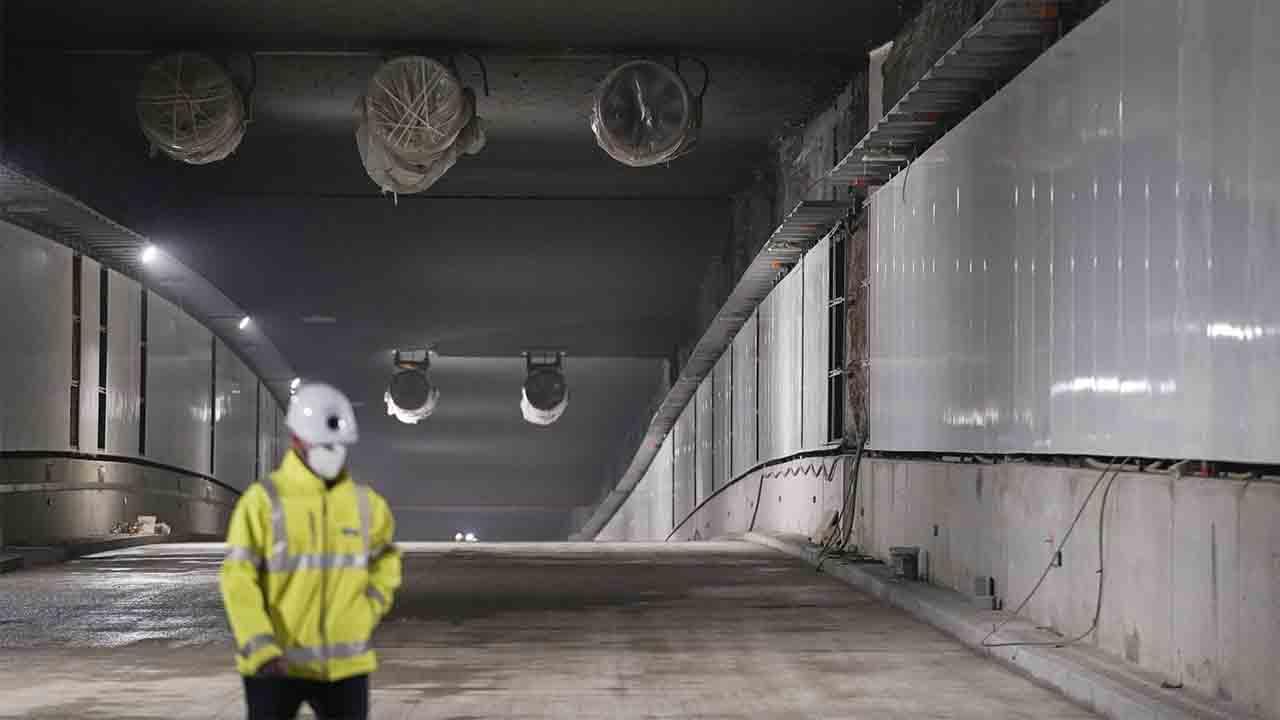 Recta final de las obras del Túnel de Glòries