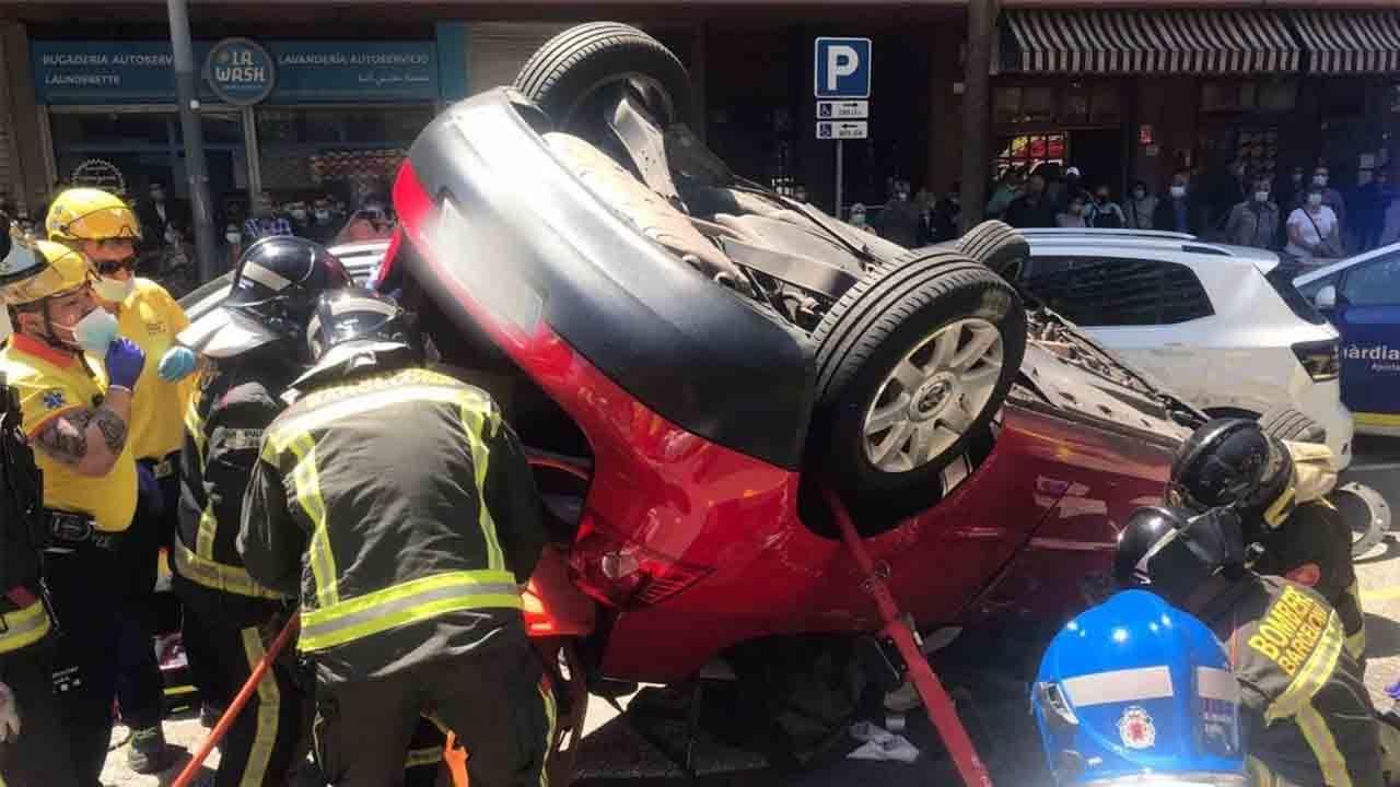 Accidente en el paseo de la Zona Franca con un herido grave
