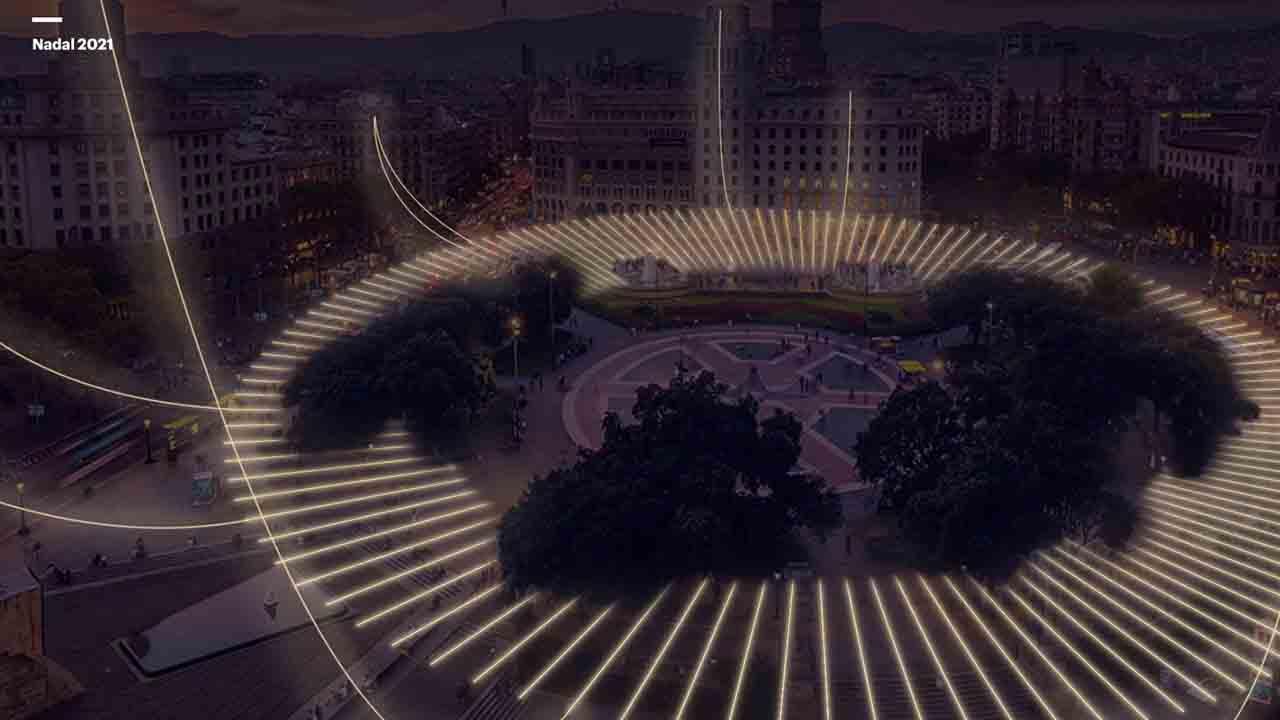 Barcelona se reivindica como ciudad del diseño por la iluminación para Navidad 2021