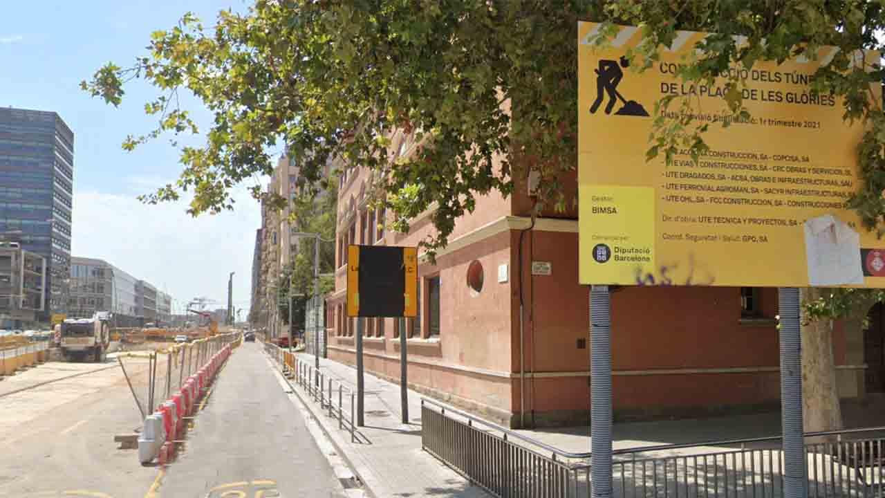 Pacificación de la Escuela Casas una vez terminado el túnel de Glòries