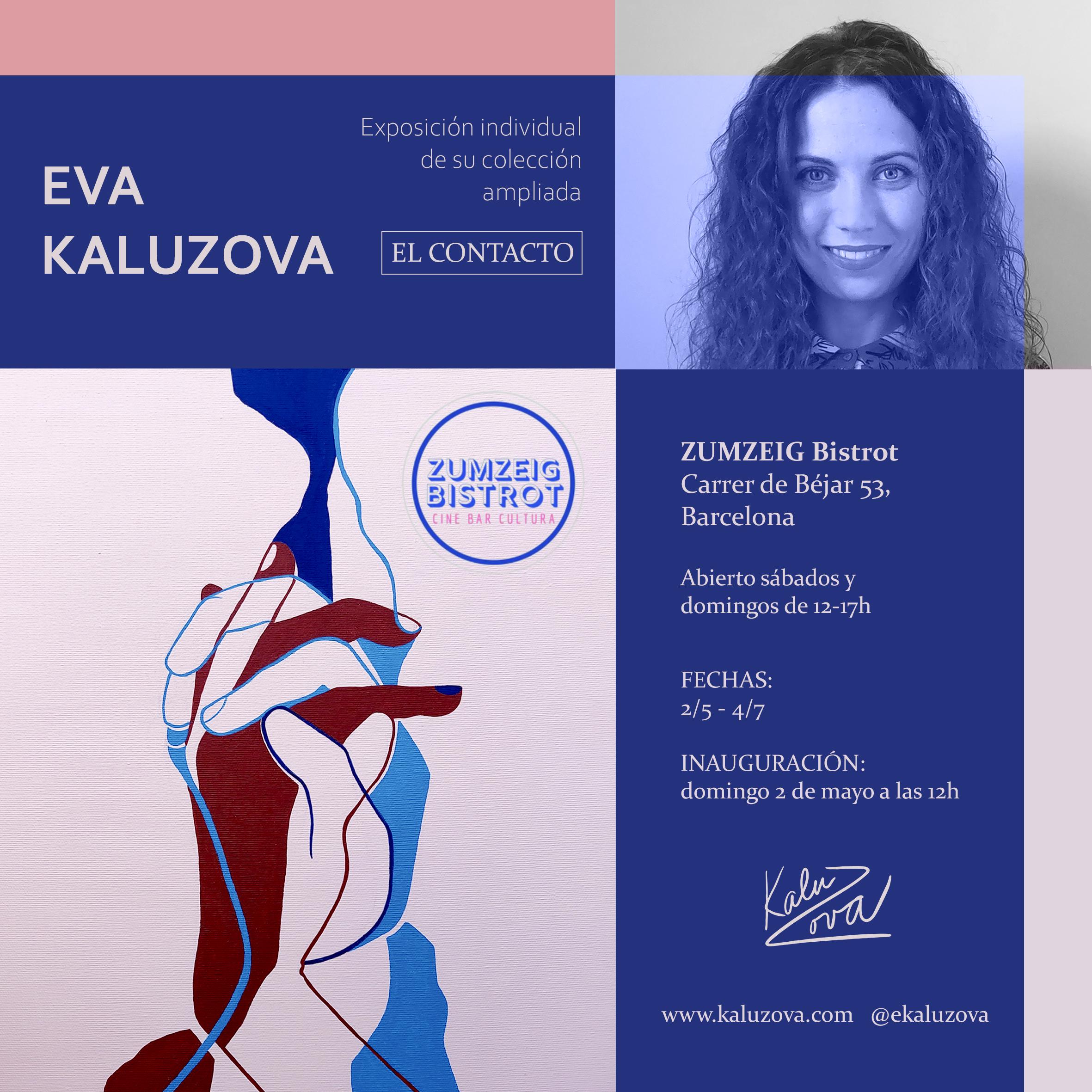 Las obras de la artista Eva KALUZOVA ya están en el Bistrot Zumzeig de Sants