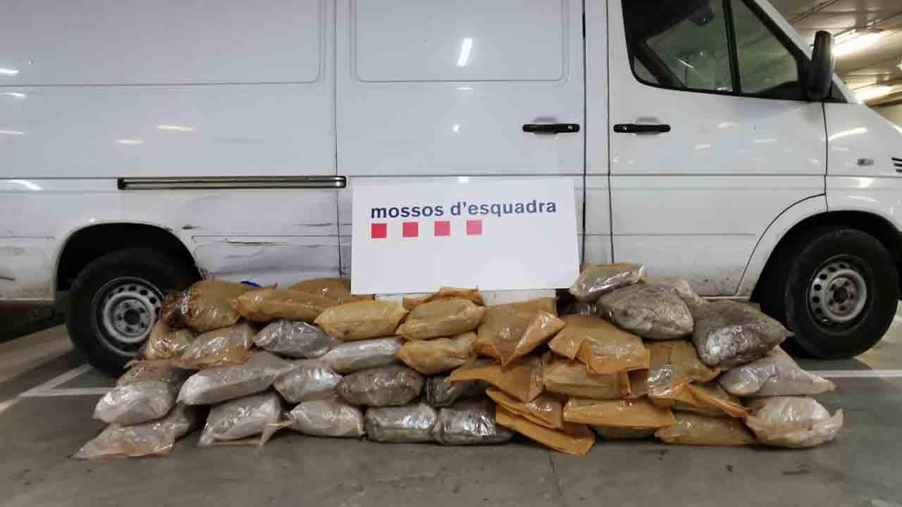 Localizan 63 kilos de marihuana en un camión con matrícula polaca