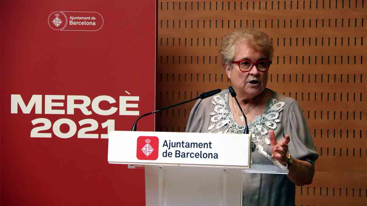 Ada Colau preside la lectura del pregón de la Mercè 2021, a cargo de Custodia Moreno