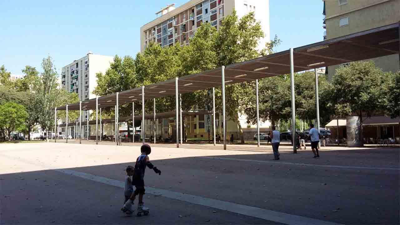 Comienzan las obras en la plaza dels Porxos de Sant Martí de Provençals
