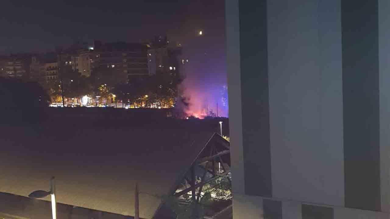 Explosión en el antiguo campo de futbol de Magoria